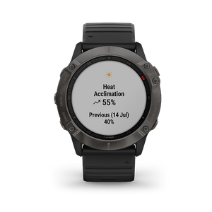 Garmin Fenix6X Carbon Gray DLC with Black Band