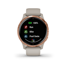 Load image into Gallery viewer, Garmin Venu Light Sand Rose Gold