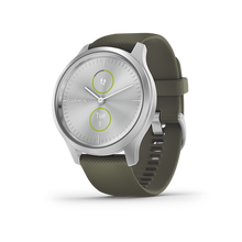 Load image into Gallery viewer, Garmin Vivomove Style Moss Green Silver