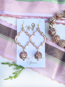 Chinoiserie Quatrefoil Earrings - Multiple Colors Available