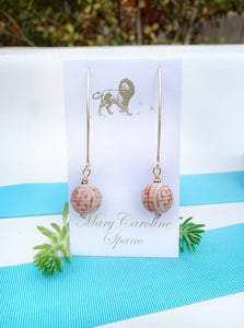 Chinoiserie wishbone earrings