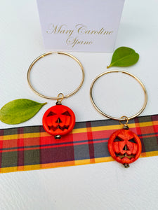 Pumpkin hoop earrings