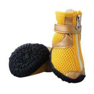 Dog Summer Anti-Slip Breathable Shoes Mesh Zipper Boots