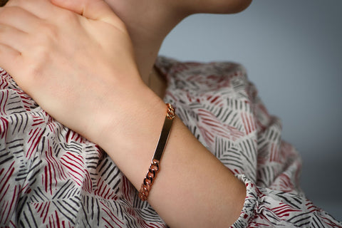 Copper Identification Bracelet For Humans