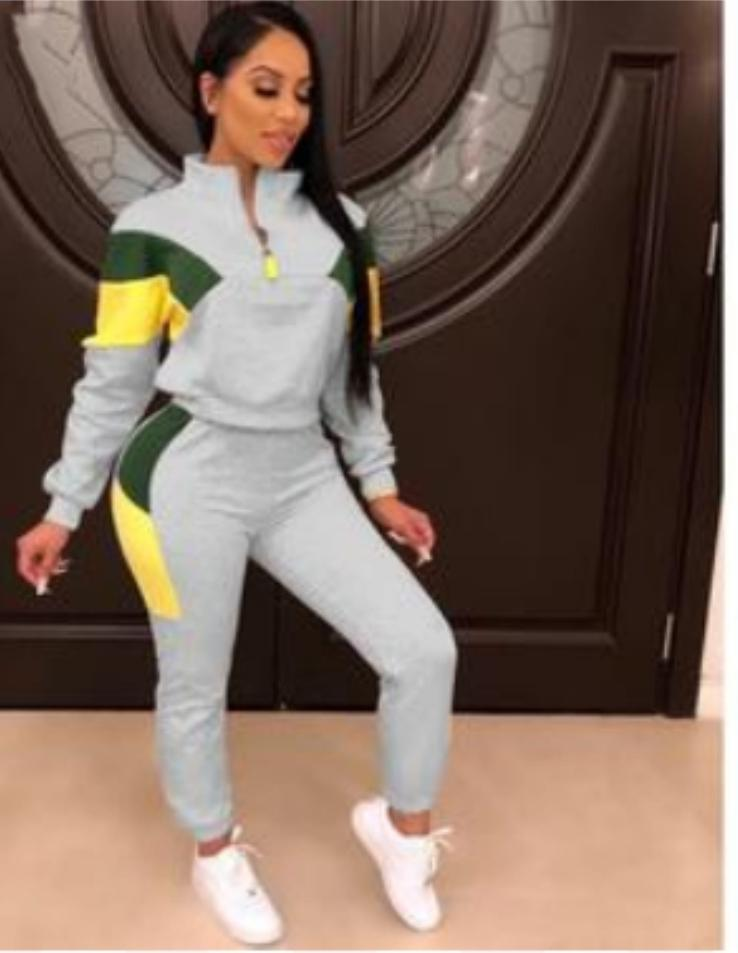 Women's 2 piece sports tracksuit/sweatsuit