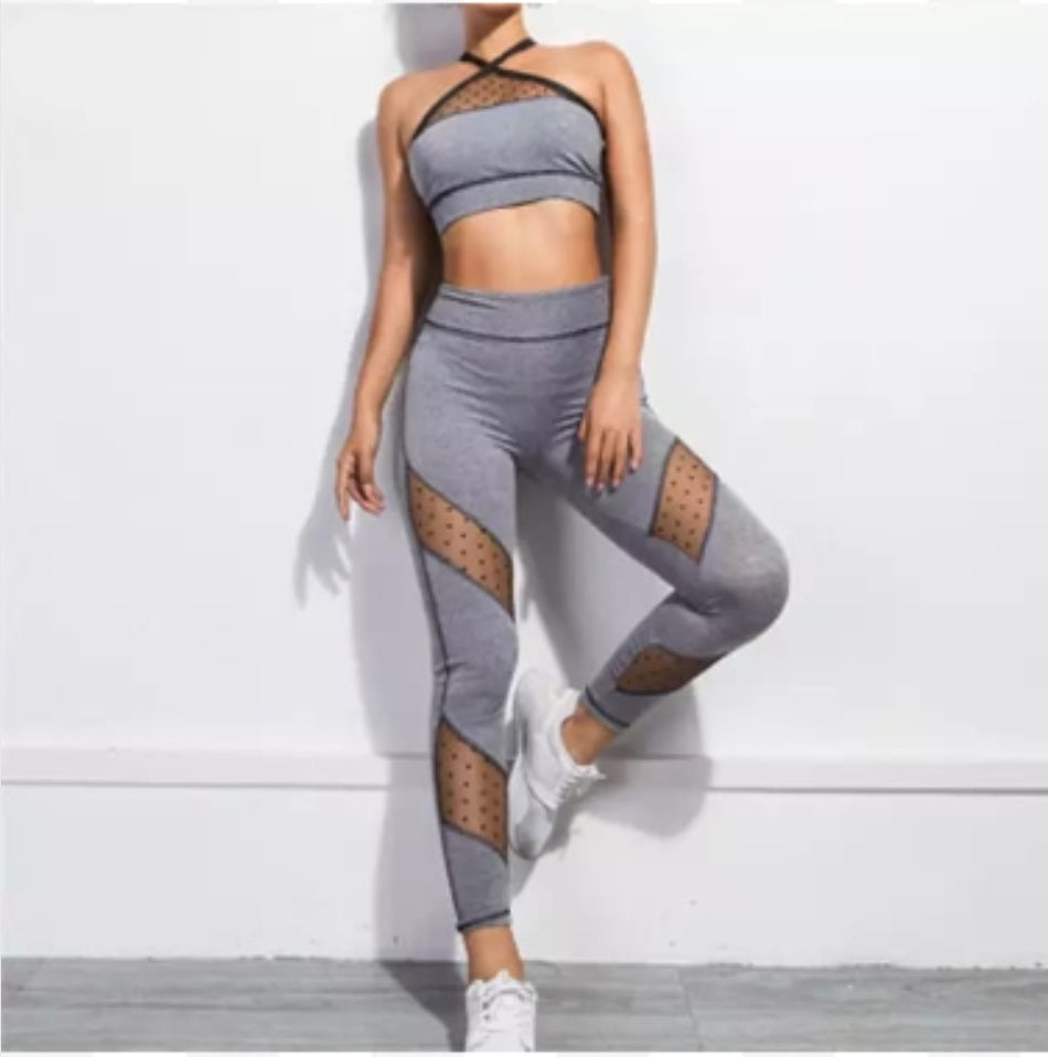 Women's active elastic sportswear sets