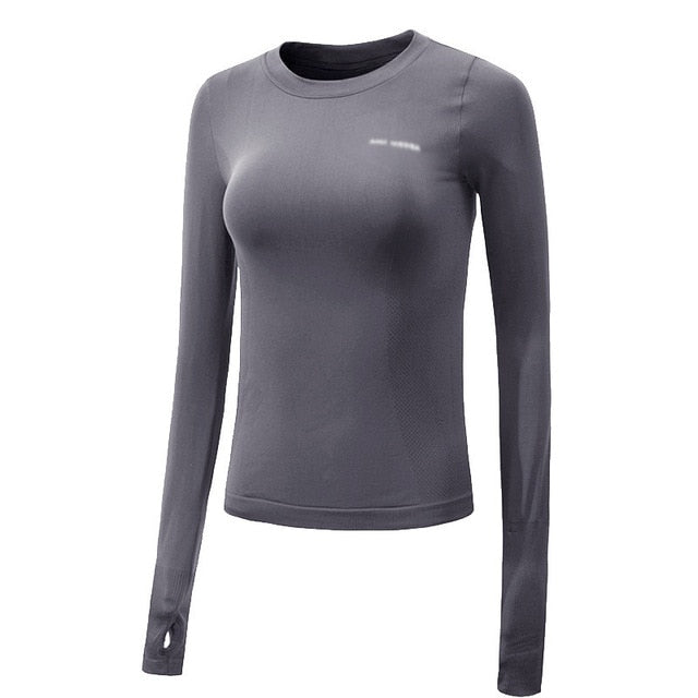 Women's long sleeve breathable yoga top