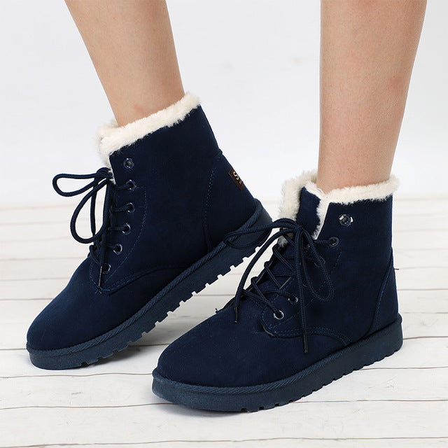 Women's classic lace up snow boots