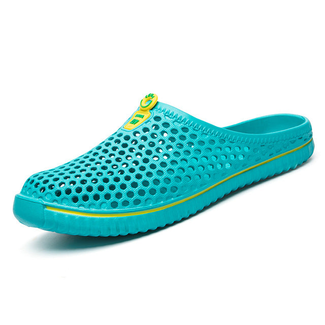 Men's breathable aqua mesh mules clogs