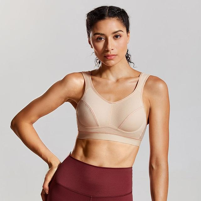 Women's high impact support plus size sports bra
