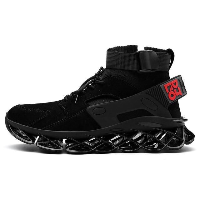 Men's high top sports running/jogging blade sole shoes