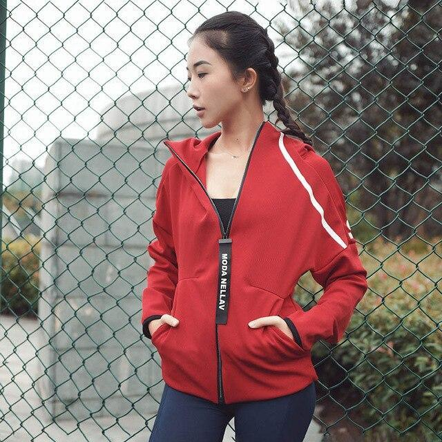 Women's hooded zipper quick dry activewear/sportswear