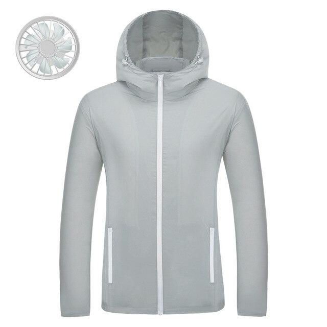 Air conditioning USB cooling sun protective outdoor jacket