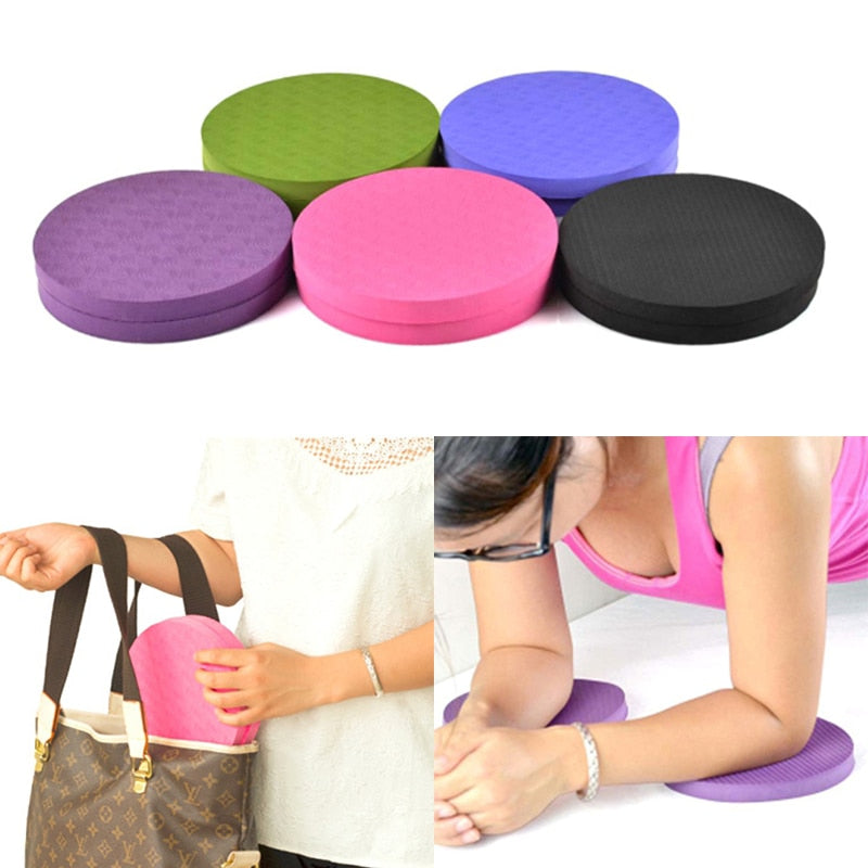 2PCS/Set Portable Small non slip Round Knee Pad Yoga Mats