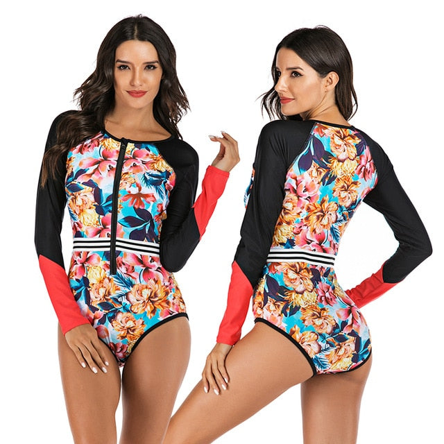 Women's long sleeve swimwear bathing suit