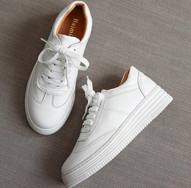 Women's leather lace up sneakers