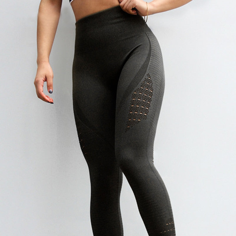 Women's stretchy fitness compression yoga pants