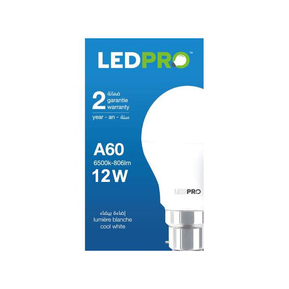 Lampe LED B22 12W (lot de 100 unité)