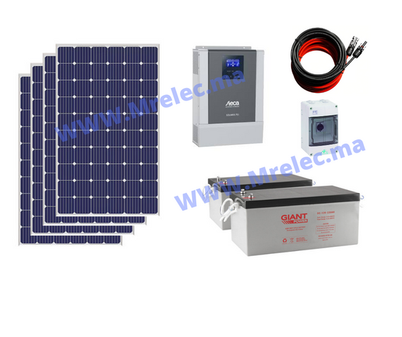 Kit Solaire hybride - 1KW Poly