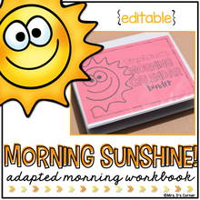 Load image into Gallery viewer, Morning Adapted Work Binder® (for Special Needs) | Adapted Morning Work