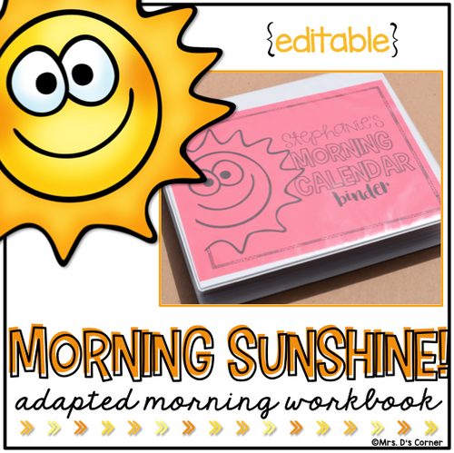 Morning Adapted Work Binder® (for Special Needs) | Adapted Morning Work