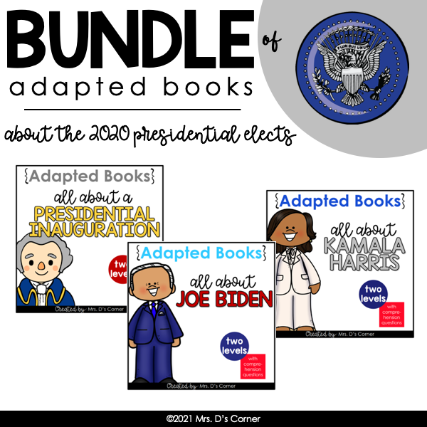Bundle of 2020 Presidential Adapted Books | Digital + Printable