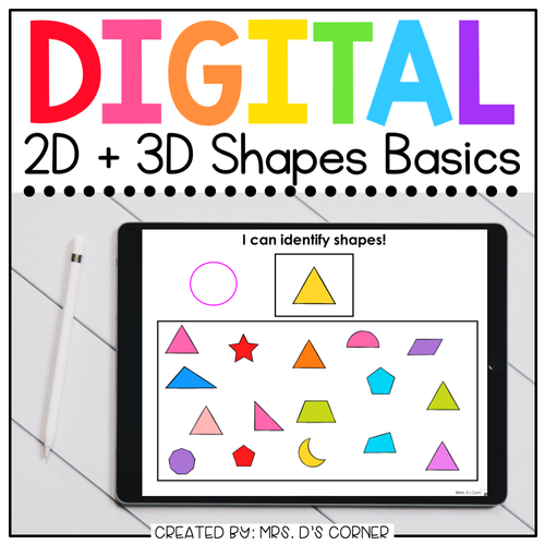 2D + 3D Shapes Digital Basics for Special Ed | Distance Learning