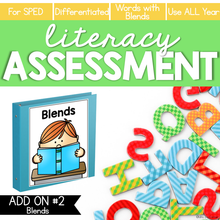 Load image into Gallery viewer, Blends Word Lists Literacy Assessment ADD ON #2