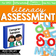 Load image into Gallery viewer, Comprehension and Fluency Literacy Assessment ADD ON #4