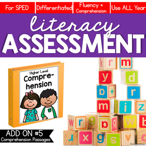 Comprehension and Fluency Literacy Assessment ADD ON #5
