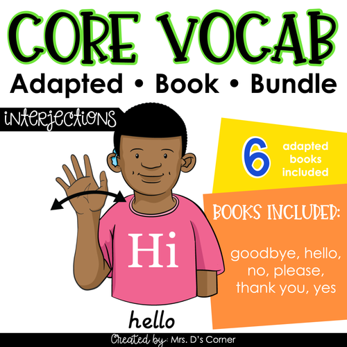 Interjections Core Vocabulary Adapted Book Bundle [Level 1 and Level 2]