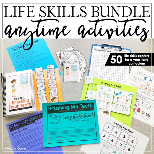 Anytime Activity Bundle | Life Skills Curriculum | Life Skills Centers Bundle