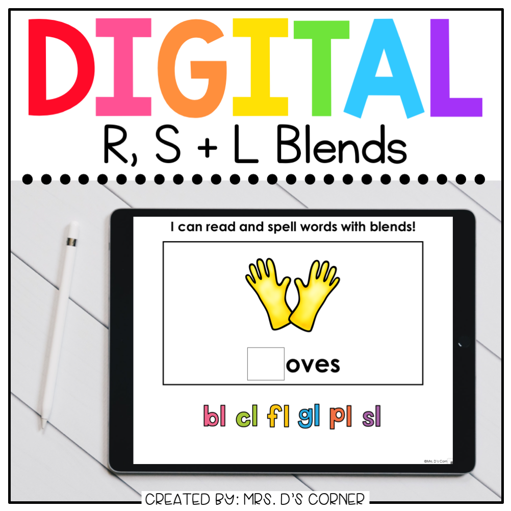 R S and L Blends Digital Basics for Special Ed | Distance Learning