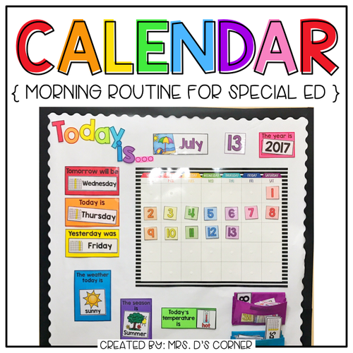 Interactive Calendar and Calendar Mat ( for the Special Needs Classroom )