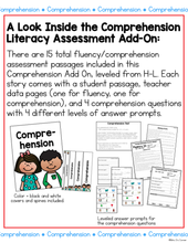 Load image into Gallery viewer, Comprehension and Fluency Literacy Assessment ADD ON #5