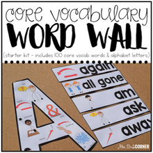 Load image into Gallery viewer, Core Vocabulary Word Wall ( Starter Kit ) | Special Education Word Wall