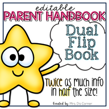 Load image into Gallery viewer, Editable Parent Handbook | Dual Tab Flip Book