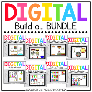 Bundle of 8 Digital Build a... Activities | Distance Learning