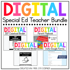 Digital Back to School Bundle for Special Education Teachers