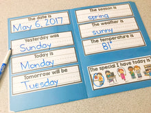 Load image into Gallery viewer, Interactive Calendar Mats (for the Special Education Classroom)