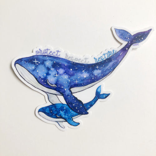 Humpback Whale Sticker | Ocean Conservation Donation