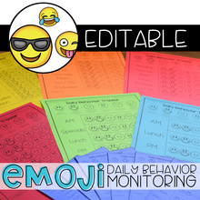 Load image into Gallery viewer, Editable Emoji Daily Behavior Monitoring Form | Communication Notebook