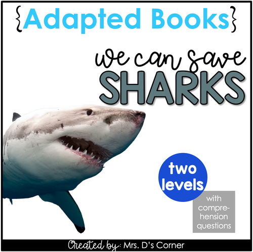 How to Save Sharks Adapted Books [Level 1 and 2] | Shark Conservation Books