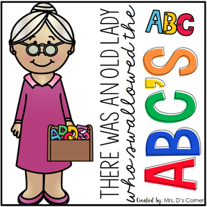 Old Lady Swallowed the ABCs Book Companion [4 different activities!]