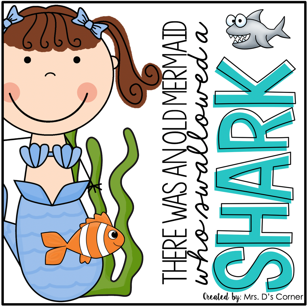 Old Mermaid Swallowed a Shark Book Companion [4 different activities!]