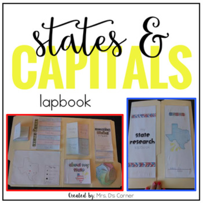 States and Capitals Research Lapbook [Grades 3 - 6]