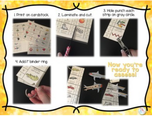 Clothespin Alphabet Assessment Strips (Over 20 assessment options!)