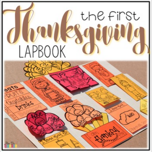 Thanksgiving Lapbook [with 12 foldables] Grades 1-4