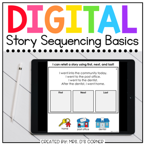 Sequencing a Story Digital Basics for Special Ed | Distance Learning
