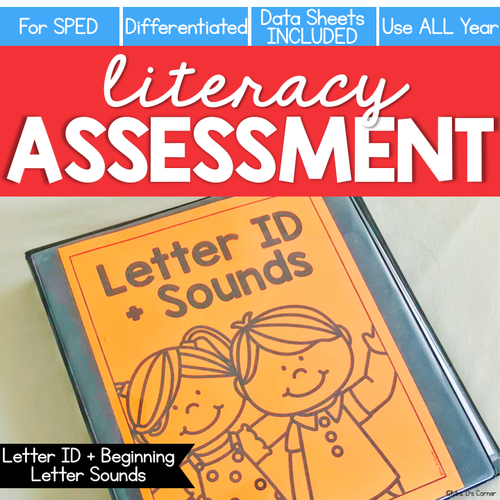 Letter ID + Beginning Letter Sound Assessment - Literacy Reading Assessment